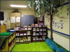 Classroom tree and reading area Classroom Tree, Classroom Layout, Classroom Setting, Classroom Design, Classroom Organization, Classroom Decor, Reading Room Decor, Reading Tree, Classroom Furniture
