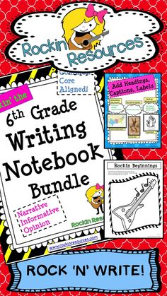 A teacher-friendly writing notebook bundle. This year-long unit was designed to follow through the WRITING PROCESS and model lessons for Narrative Writing, Argumentative Writing, and Informative Writing. It covers ALL of the Writing Common Core Standards and many Language Standards. There are teachable slides that can be used on the smart board as well as student printables WITH STANDARDS to go along with each mini lesson. $