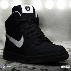 Oakland Raiders Nike Dun NFL-iD shoes casuales cómodos de vestir deportivos hermosos hombre mujer vans Hype Shoes, Men's Shoes, Shoe Boots, Shoes Sneakers, Black Sneakers, New Nike Shoes, Nike Air Shoes, Jordan Shoes Girls, Girls Shoes