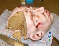 So disgusting...don't know if I could bring myself to eat this.  But it would be awesome on the Halloween buffet table.