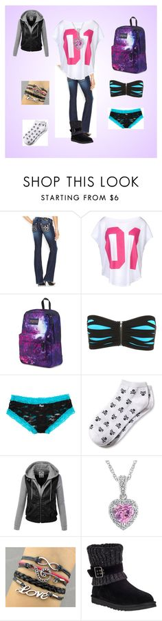 """Beginning of Infinity #8"" by cherokee-june ❤ liked on Polyvore featuring Miss Me, NIKE, JanSport, Banana Republic and UGG Australia"