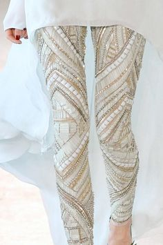 Beaded leggings -