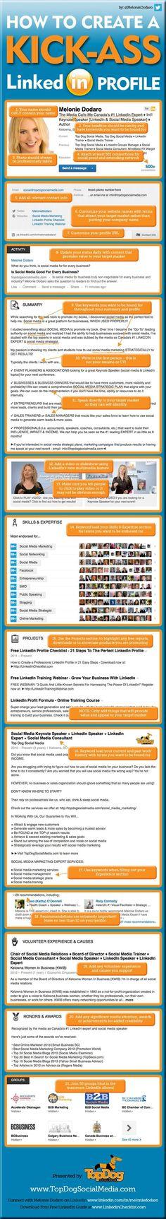 Kickin' booty! Create an awesome LinkedIn Profile #infographic