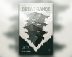 The Great Range Trail Adirondacks NY New York Print
