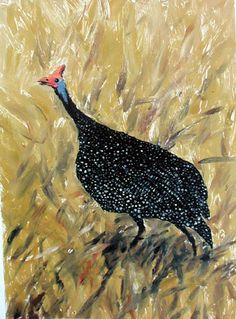 Guinea Fowl  by Stephen Mbatia