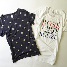Say hello to your 4th of July outfit!  These limited edition t+j Designs tees are being offered to our Instagram followers first! Each tee is $36 shipped.. Remaining inventory: Stars (1 S, 1 L). To purchase, comment below with your email address, choice of shirt (stars, rosé, or both), and size. A PayPal invoice will be sent directly to your inbox.  #lilliandtori #tandjdesigns #ootd #outfitoftheday #instastyle #instafashion #fashion #fashionblogger #wiw #wiwt