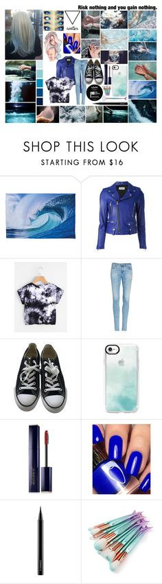 """""""Brooklyn Talia Cunning (Water Bound)"""" by frootloop16 ❤ liked on Polyvore featuring INDIE HAIR, Yves Saint Laurent, AG Adriano Goldschmied, Converse, Casetify, Estée Lauder, NYX and MAC Cosmetics"""