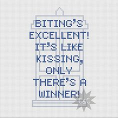 Doctor Who Idris/Tardis quote cross stitch PDF by CapesAndCrafts, £2.30