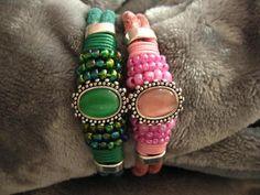 Armbänder - Opulentes Armband mit Sliderperlen Farbwahl - ein Designerstück von Ringfreak bei DaWanda
