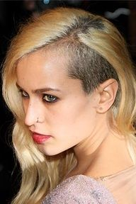 ask to have one side shaved (between the hairline and ear) for a peek-a-boo edgy look -