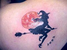 witch tattoos | Salem Date!! Witch Tattoo!! | Tattoos | Pinterest
