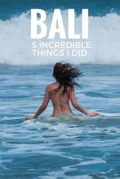 bali 5 increidible things to do