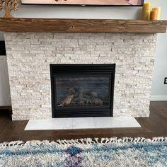 Fireplace Mantle 60 Long x Tall x 9 Deep Reface Fireplace, Wood Mantle Fireplace, Stone Fireplace Makeover, Rustic Mantel, Fireplace Update, Wood Mantels, Home Fireplace, Living Room With Fireplace, Fireplace Design