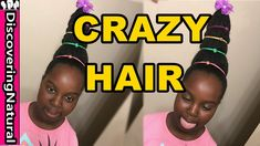 CRAZY Hair  Hairstyle for Girls and School   Natural Hair Cindy Lou Who - YouTube Crazy Hair day ideas / Crazy Hair day at school