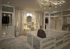 The best of luxury closet design in a selection curated by Boca do Lobo to inspire interior designers looking to finish their projects. Discover unique walk-in closet setups by the best furniture makers out there. Dream Closets, Dream Rooms, Dream Bedroom, Closet Vanity, Closet Mirror, Beautiful Closets, Modern Closet, Master Bedroom Closet, Bedroom Closets