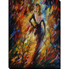 FramedArt.com Leonid Afremov 'Queen Of Fire' Giclee Print Wall Art