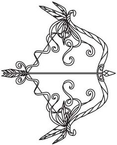 Embroidery Designs at Urban Threads - Bow and Arrow, tattoo idea, no feathers, less fuss
