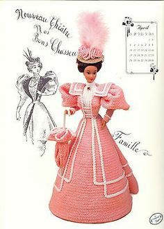 Fashion Doll Clothes Crochet Pattern NEW Gibson Girl Collection Miss April