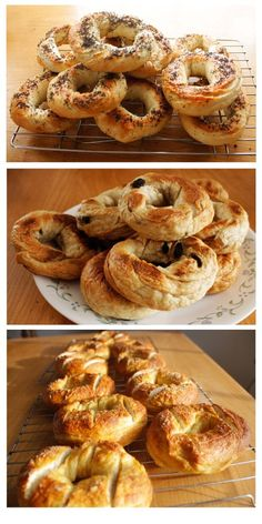 poppy seed, cinnamon raisin, and pretzel bagels recipes...I could make mom everything bagels and me pretzel ones!!!