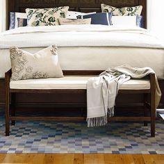 Paula Deen Home Down Home Wood Bedroom Bench