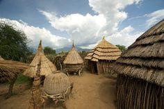 Africa | A manyata somewhere in Nakapiripirit, Karamoja, Uganda. I want to go back.