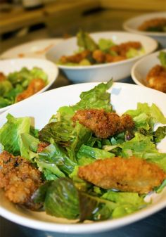 Panko Fried Oysters - These delicious fried oysters are perfect on their own as an appetizer or main dish or piled on a bed of lettuce with remoulade dressing and fried capers.