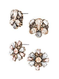 Flowery statement studs are just the feminine touch that every outfit needs.