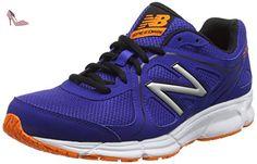 New Balance 390, Chaussures de Running Entrainement Homme, Bleu (Blue/Orange 405), 44 EU - Chaussures new balance (*Partner-Link)