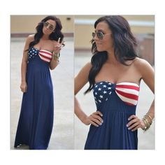 COMING SOON! ↠American Flag Maxi Dress↞ ↠American Flag Maxi Dress↞  NWT/new in package. Perfect for the Fourth of July!   No Trades, PayPal, lowballing [w8] Dresses Maxi