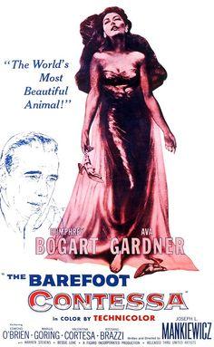 8/13/14 10:12p  United Artists Pictures ''The Barefoot Contessa''  Humphrey  Bogart Ava Gardner Edmond O'Brien   Rossano  Brazzi  Best Sup Actor Oscar 1954