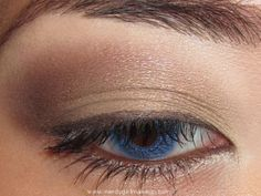 THE perfect neutral eye!  MAC Satin Taupe and Patina eyeshadow w/ brown gel eyeliner
