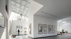 office PROJECT · Hall within cloud-Art studio of Xu Hongquan ---Artistic living in suburban of Beijing Wright Flyer, Studios Architecture, Interior Architecture, Minimalist Architecture, Chinese Architecture, Commercial Architecture, Artist Home Studio, Lightroom, Cloud Art