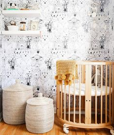 """409 Likes, 4 Comments - MyDomaine (@mydomaine) on Instagram: """"Whimsy meets sophisticated in this chic nursery. Double-tap if you love this room as much as we do.…"""""""