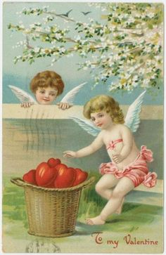 Cupid angels 1900 valentine