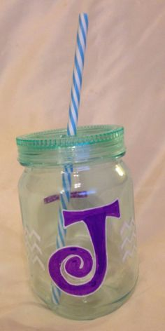Plastic mason jar cup by DJCcreations2013 on Etsy, $12.50