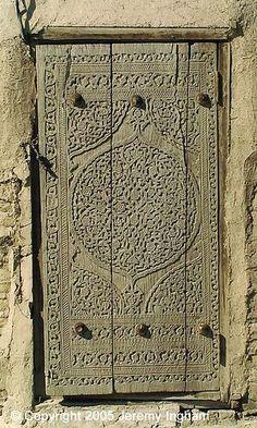 door Khiva, Uzbekistan by jezingham, Cool Doors, Unique Doors, Porte Cochere, Islamic Architecture, Art And Architecture, Entrance Doors, Doorway, When One Door Closes, Knobs And Knockers