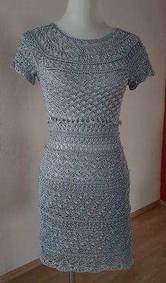 Häkelkleider selbst gemacht: Crochet Dress Mary -english