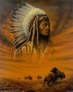 belles photos des amérindiens | belle peinture