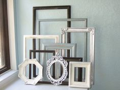 Picture Frames  Set of Ten Made to Order Frames by TheArtofChic, $150.00