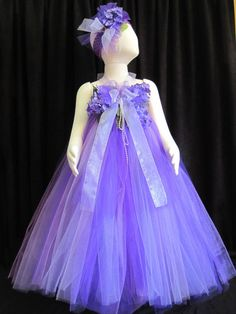 20 OFF  Gorgeous Fairytale Tutu Dress & Headband  by cd1ofakind, $56.00