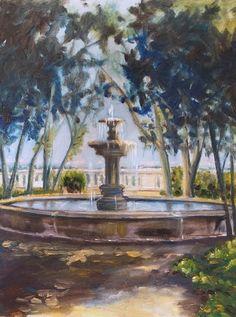 Fountain, Frascati oil