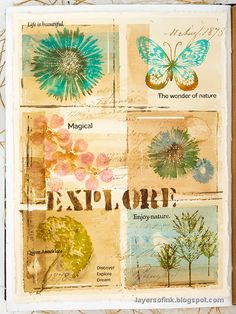 Small Flowers, Colorful Flowers, Design Tape, Simon Says Stamp Blog, Old Letters, Whole Image, Letter Stencils, Art Journal Pages, Art Journaling