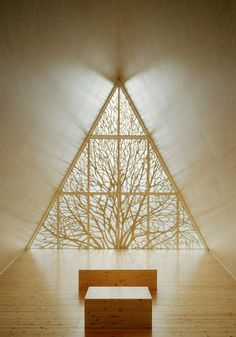 Lilja Chapel  by Vesa Oiva - branches become minimalist tracery.