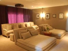 Since this will be a winning combination for your heart, I really want to bring closer to you some great ideas of home cinema rooms.