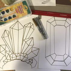 grade Gems & Crystals Elements of the Art Room: Art Rocks! grade Gems & CrystalsElements of the Art Room: Art Rocks! Arts And Crafts Storage, Arts And Crafts For Teens, Art And Craft Videos, Arts And Crafts Furniture, Fall Arts And Crafts, Art For Kids, 6th Grade Art, 3rd Grade Art Lesson, Grade 3