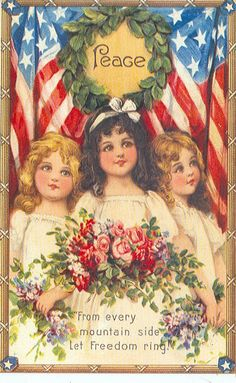 In the earliest years of the century no holiday inspired a larger number or a more beguiling display of colorful, historic and patriotic postcards than did Memorial Day. Fourth Of July Decor, 4th Of July Decorations, July 4th, Patriotic Crafts, July Crafts, Vintage Greeting Cards, Vintage Postcards, July Images, Patriotic Pictures