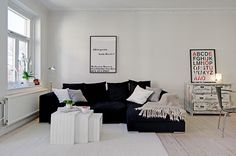 A stylish and sophisticated small flat in Sweden