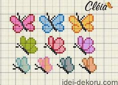 Here you can look and cross-stitch your own flowers. Tiny Cross Stitch, Butterfly Cross Stitch, Cross Stitch Alphabet, Cross Stitch Cards, Cross Stitch Animals, Cross Stitch Flowers, Cross Stitch Designs, Cross Stitching, Cross Stitch Embroidery