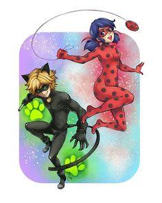 Image de Adrien, marinette, and chatnoir