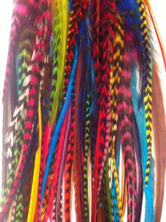 Hair Feathers- You might be surprised to find out that you local hair salon can add a feather into your hair with a wide variety of colors and style!